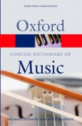 CONCISE OXFORD DICT OF MUSIC