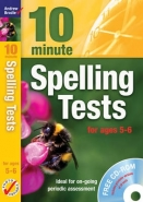 10 MINUTE SPELLING TESTS FOR AGES 5-6 (CD INCLUDED)