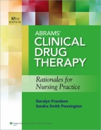 ABRAMS CLINICAL DRUG THERAPY: RATIONALES FOR NURSING PRACTICE