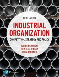 INDUSTRIAL ORGANIZATION: COMPETITION STRATEGY AND POLICY