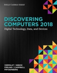 DISCOVERING COMPUTERS C 2018: DIGITAL TECHNOLOGY DATA  AND DEVICES