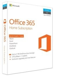 MICROSOFT OFFICE 365 HOME FULLY PACKAGED 1 YEAR SUBSCRIPTION