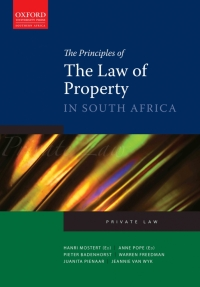 PRINCIPLES OF THE LAW OF PROPERTY IN SA
