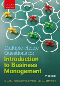 MULTIPLE CHOICE QUESTION BOOK FOR INTRODUCTION TO BUSINESS MANAGEMENT