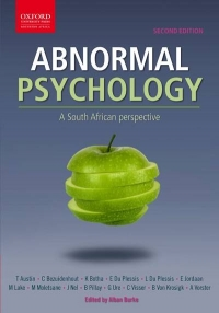 ABNORMAL PSYCHOLOGY: A SA PERSPECTIVE