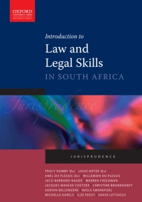 INTRODUCTION TO LAW AND LEGAL SKILLS IN SA