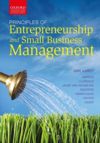 PRINCIPLES OF ENTREPRENEURSHIP AND SMALL BUSINESS MANAGEMENT