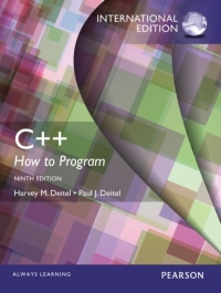 C++ HOW TO PROGRAM: EARLY OBJECTS VERSION