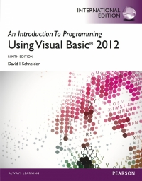 INTRODUCTION TO PROGRAMMING WITH VISUAL BASIC 2012
