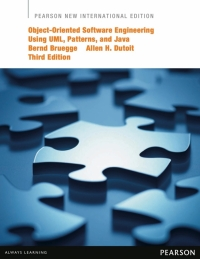 OBJECT ORIENTED SOFTWARE ENGINEERING USING UML PATTERNS AND JAVA