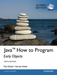 JAVA HOW TO PROGRAM: EARLY OBJECTS (GLOBAL EDITION)