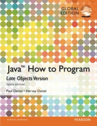 JAVA: HOW TO PROGRAM (LATE OBJECTS)