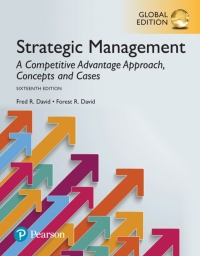 STRATEGIC MANAGEMENT: A COMPETITIVE ADVANTAGE APPROACH CONCEPTS AND CASES