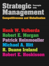 STRATEGIC MANAGEMENT: COMPETITIVENESS AND GLOBALIZATION (CONCEPTS ONLY)