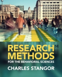 RESEARCH METHODS FOR BEHAVIORAL SCIENCES