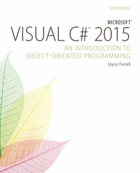 MICROSOFT VISUAL C : AN INTRODUCTION TO OBJECT ORIENTED PROGRAMMING 2015