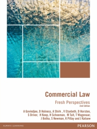 FRESH PERSPECTIVES: COMMERCIAL LAW