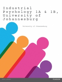 INDUSTRIAL PSYCHOLOGY 1A AND 1B UNIVERSITY OF JOHANNESBURG