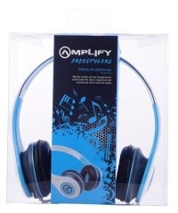 HEADPHONES AMPLIFY FREESTYLERS WHITE AND BLUE