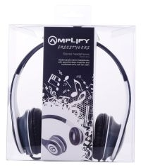 HEADPHONES AMPLIFY FREESTYLERS BLACK AND WHITE